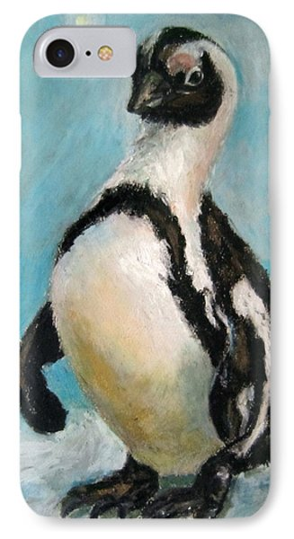 IPhone Case featuring the painting Penguin by Jieming Wang