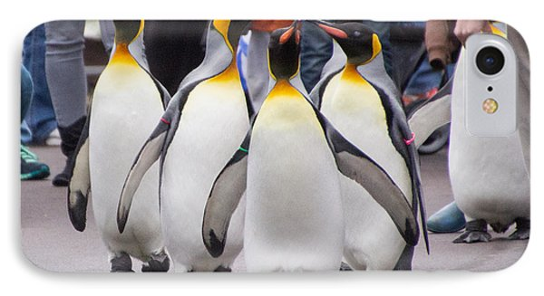 Penguin Parade IPhone Case by Cathy Donohoue