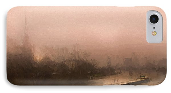 Peniche Sur La Riviere Main - Francfort  IPhone Case by Jean-Pierre Ducondi