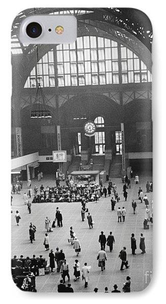 Penn Station Nyc 1957 Phone Case by Van D Bucher
