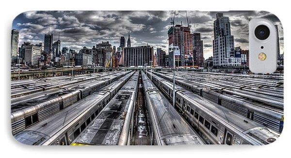 Penn Station Train Yard IPhone Case by Rafael Quirindongo