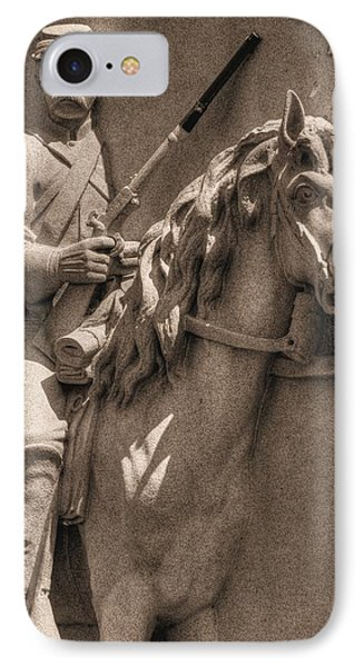 Pennsylvania At Gettysburg - 17th Pa Cavalry Regiment - First Day Of Battle Phone Case by Michael Mazaika