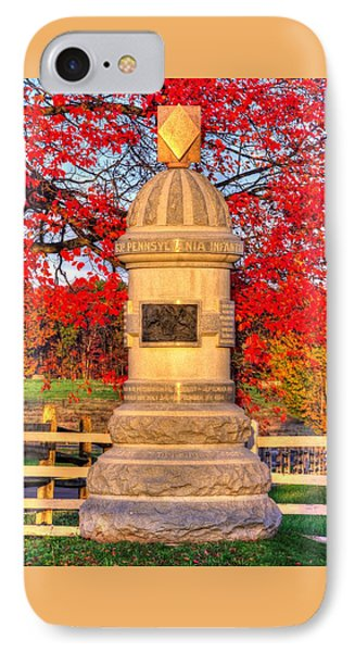 Pennsylvania At Gettysburg - 63rd Pa Volunteer Infantry - Sunrise Autumn Steinwehr Avenue IPhone Case
