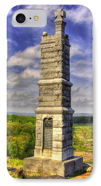Pennsylvania At Gettysburg - 91st Pa Veteran Volunteer Infantry - Little Round Top Spring Phone Case by Michael Mazaika