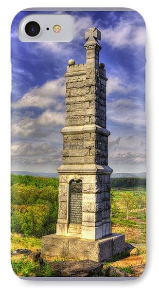 Pennsylvania At Gettysburg - 91st Pa Veteran Volunteer Infantry - Little Round Top Spring IPhone Case