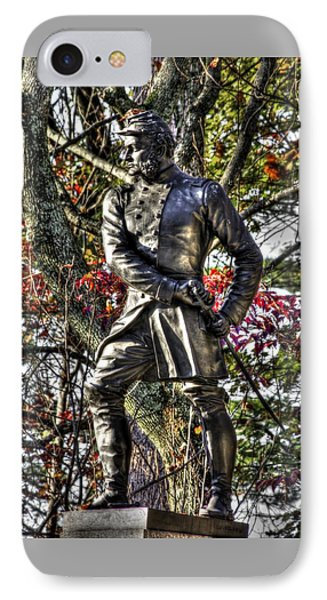 Pennsylvania At Gettysburg - Col Strong Vincent 83rd Pa Volunteer Infantry Close-3 Little Round Top IPhone Case by Michael Mazaika
