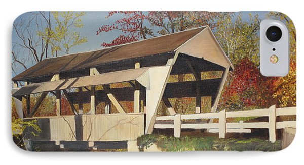 Pennsylvania Covered Bridge Phone Case by Barbara McDevitt