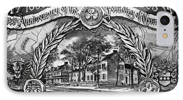 Pennsylvania Germantown IPhone Case by Granger