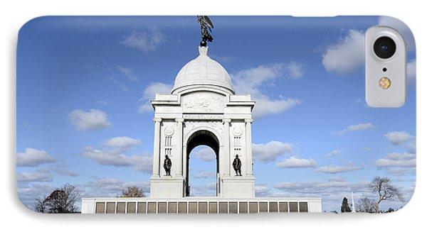 Pennsylvania Memorial At Gettysburg Battlefield IPhone Case