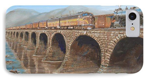 Pennsylvania Railroad On The Rockville Bridge Phone Case by Christopher Jenkins