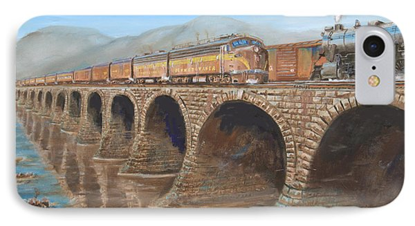 Pennsylvania Railroad On The Rockville Bridge IPhone Case by Christopher Jenkins