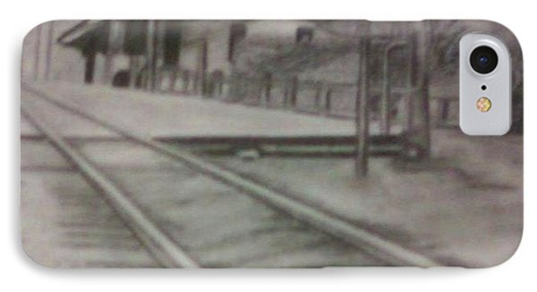 IPhone Case featuring the drawing Pennsylvania Railroad Station by Thomasina Durkay