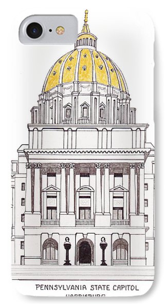 Pennsylvania State Capitol IPhone Case by Frederic Kohli