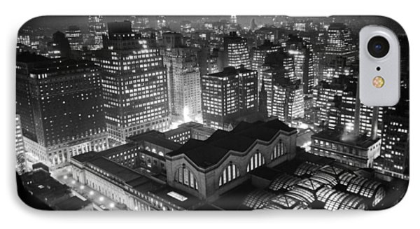 Pennsylvania Station At Night IPhone Case by Underwood Archives