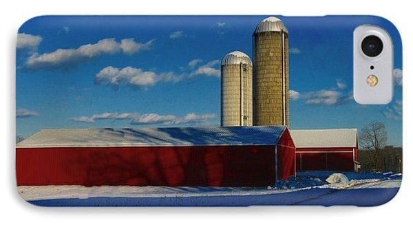 Pennsylvania Winter Red Barn  Phone Case by David Dehner