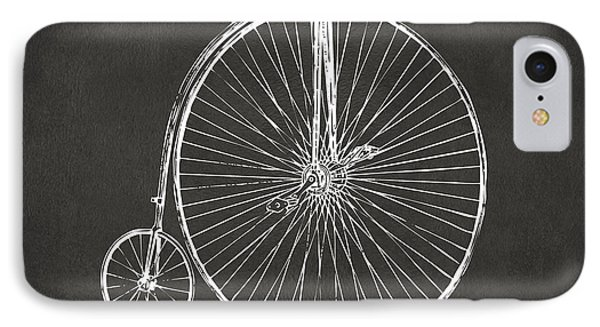 Penny-farthing 1867 High Wheeler Bicycle Patent - Gray IPhone Case by Nikki Marie Smith