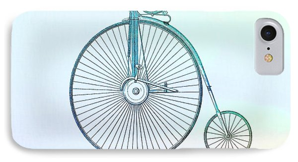 Penny-farthing Bicycle Color IPhone Case