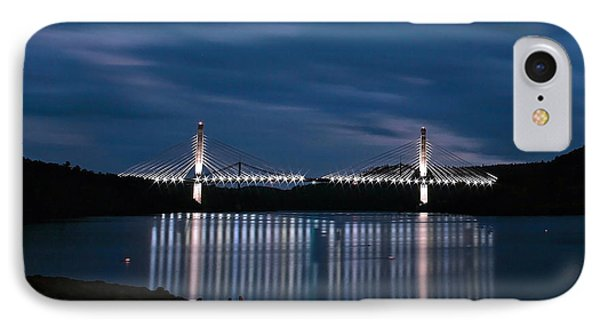Penobscot Narrows Bridge And Observatory At Night IPhone Case