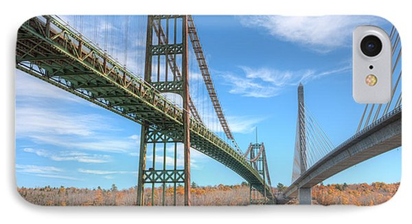 Penobscot Narrows Bridges IPhone Case by Clarence Holmes