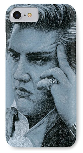 Pensive Elvis Phone Case by Rob De Vries