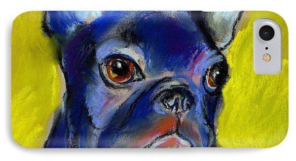 Pensive French Bulldog Portrait IPhone Case by Svetlana Novikova
