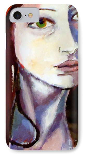 IPhone Case featuring the painting Pensive Lady by Helena Wierzbicki