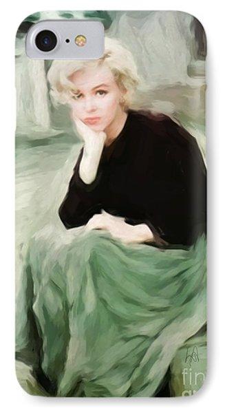 Pensive Marilyn IPhone Case by Lynne Alexander
