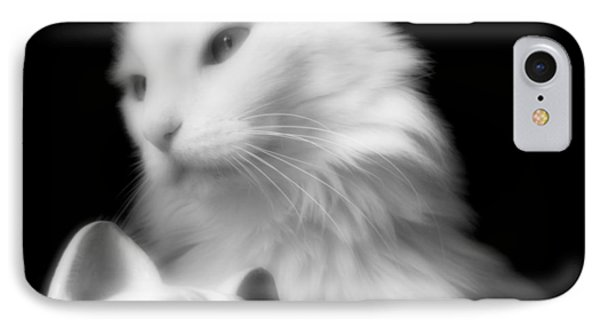 IPhone Case featuring the photograph Pensive Turkish Angora by Aurelio Zucco