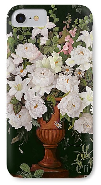 Peonies And Wisteria IPhone Case by Lizzie Riches