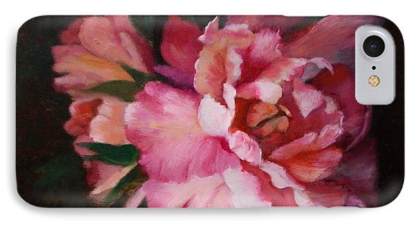 Peonies No 8 The Painting Phone Case by Marlene Book