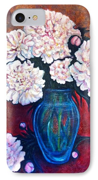 IPhone Case featuring the painting Peonies by Rae Chichilnitsky