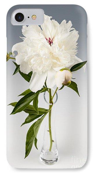 Peony Flower In Vase IPhone Case