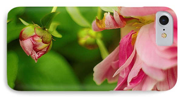IPhone Case featuring the photograph Peony Flower With Bud by Suzanne Powers