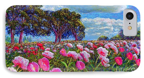 Impressionism iPhone 7 Case - Peony Heaven by Jane Small