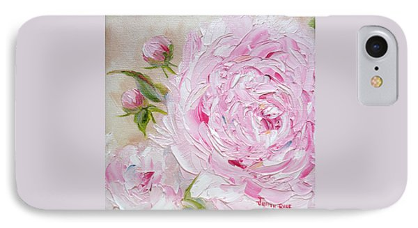 IPhone Case featuring the painting Peony by Judith Rhue