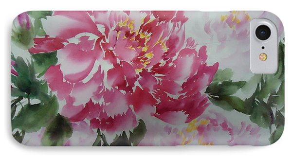 Peony8-01252012 IPhone Case by Dongling Sun