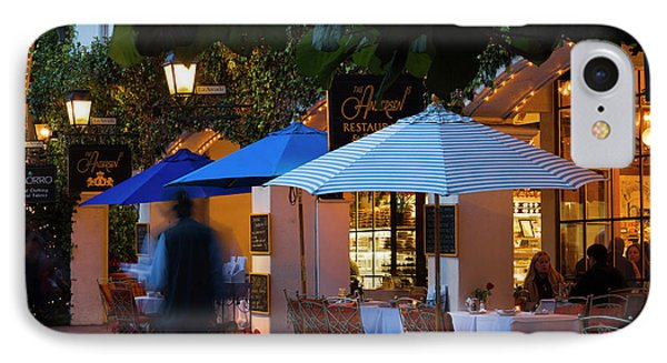 People At Cafe Along State Street IPhone Case by Panoramic Images