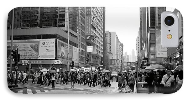 People Crossing The Street On A Rainy Day In Mong Kok Hong Kong IPhone Case by Ivy Ho