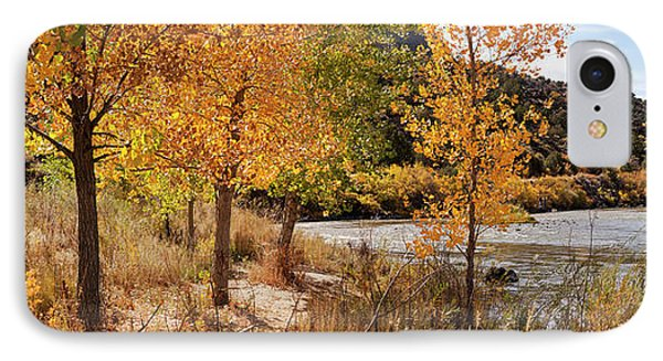 People Fishing In The Rio Grande River IPhone Case by Panoramic Images