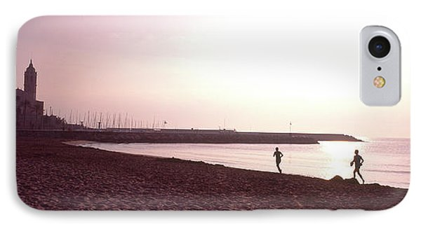 People Jogging On Beach, Sitges IPhone Case