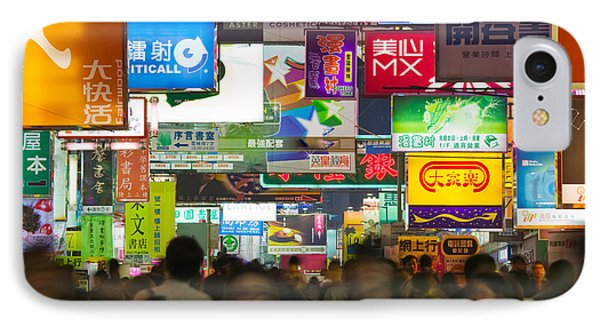 People On A Street At Night, Fa Yuen IPhone Case by Panoramic Images