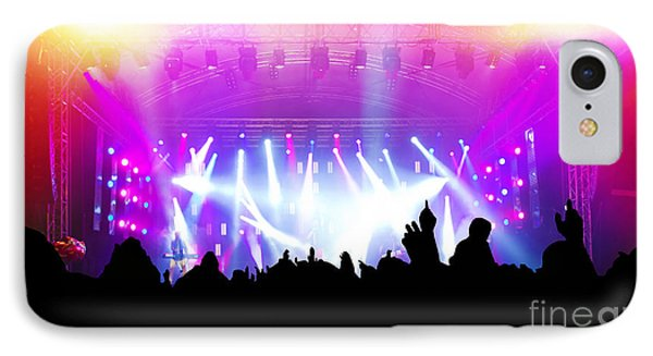 People On Music Concert Disco Party IPhone Case
