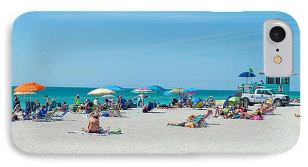 People On The Beach, Venice Beach, Gulf IPhone Case by Panoramic Images