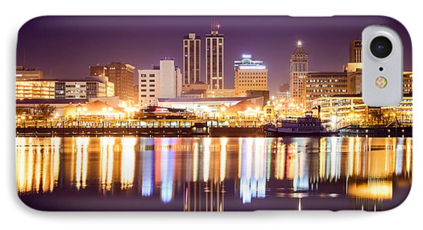 Peoria Illinois At Night Downtown Skyline Phone Case by Paul Velgos