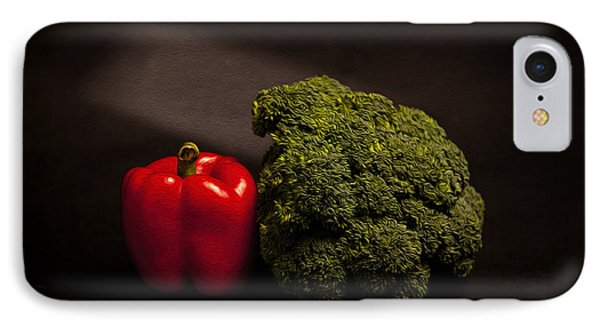 Pepper Nd Brocoli IPhone Case by Peter Tellone
