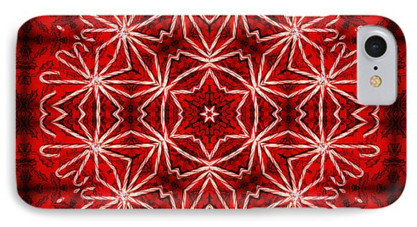 Peppermint Snowflake IPhone Case by Cricket Hackmann