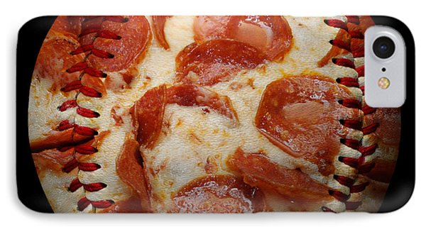 Pepperoni Pizza Baseball Square Phone Case by Andee Design