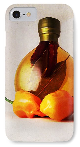 Peppers And Oil Phone Case by Shawna Rowe