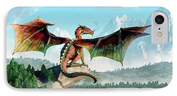 Dungeon iPhone 7 Case - Perched Dragon by Daniel Eskridge