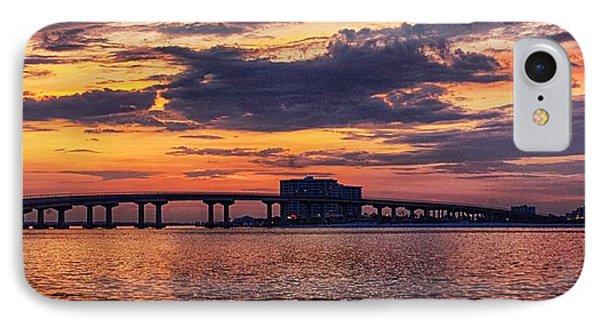 IPhone Case featuring the digital art Perdido Bridge Sunrise by Michael Thomas